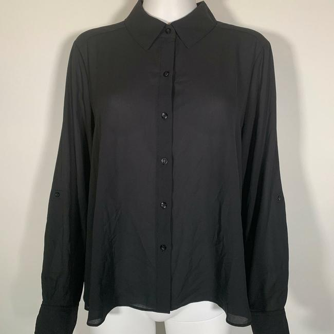 INC International Concepts Polyester Top Black Image 1