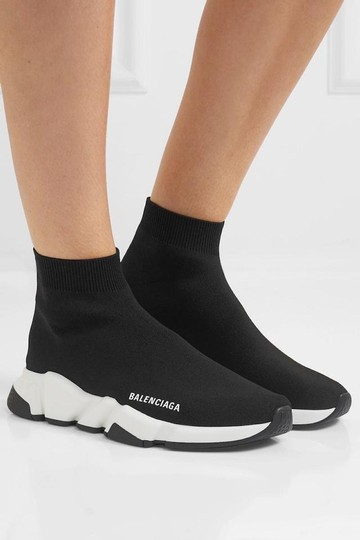 Balenciaga Speed Sneaker Sneakers High Top Black Athletic Image 3