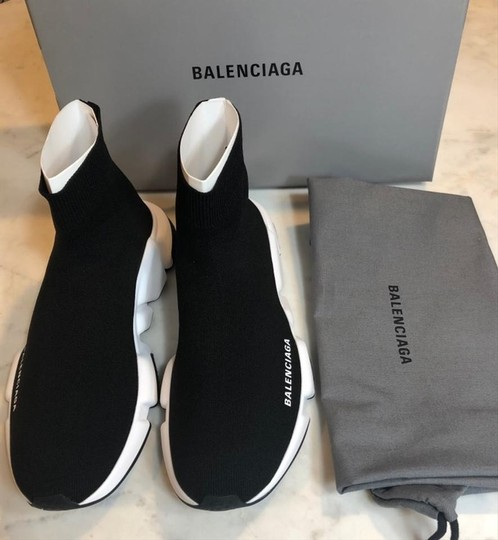 Balenciaga Speed Sneaker Sneakers High Top Black Athletic Image 5
