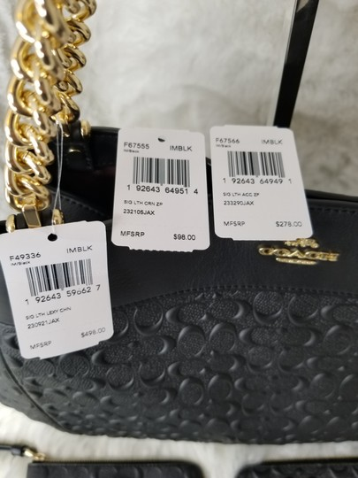 Coach Signature Chain Leather Luxury Shoulder Bag Image 1