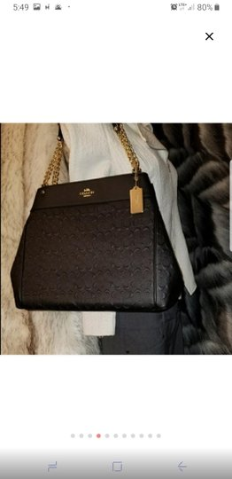 Coach Signature Chain Leather Luxury Shoulder Bag Image 5