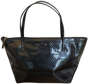 Kate Spade Patten Leather Tote in Black