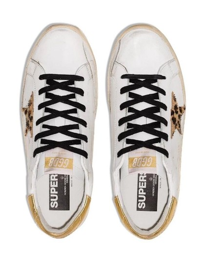 Golden Goose Deluxe Brand Sneakers Gold White leopard Athletic Image 1