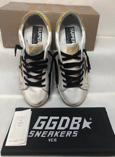 Golden Goose Deluxe Brand Sneakers Gold White leopard Athletic Image 10