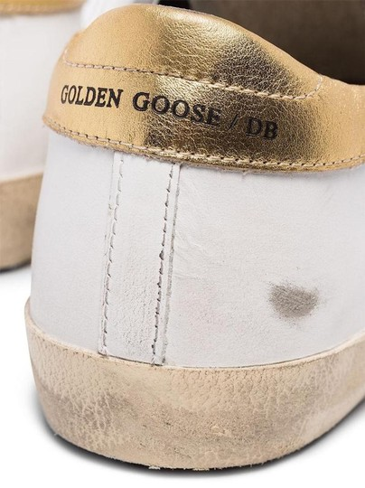 Golden Goose Deluxe Brand Sneakers Gold White leopard Athletic Image 6