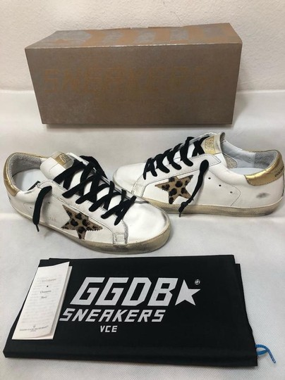 Golden Goose Deluxe Brand Sneakers Gold White leopard Athletic Image 7