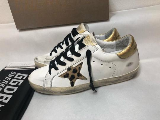 Golden Goose Deluxe Brand Sneakers Gold White leopard Athletic Image 8