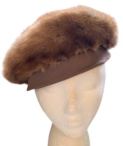 Other Perfect Vintage Mink Fur Beret Hat