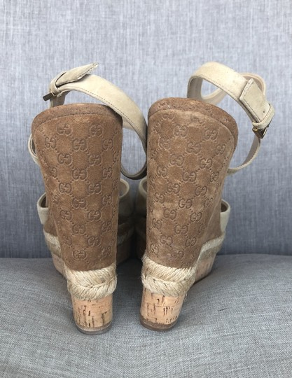 Gucci Tan Suede Wedges Image 5
