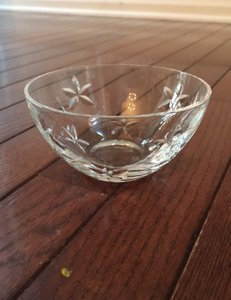 Tiffany & Co. Crystal Limited Edition Bowl with Engraved Flowers Serverware