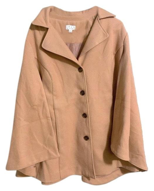 Item - Beige Vintage Camel Tan Cape Jacket Hooded 1x. Condition Is Pre-owned. Shipped with Usps Priority 26 Coat Size 20 (Plus 1x)