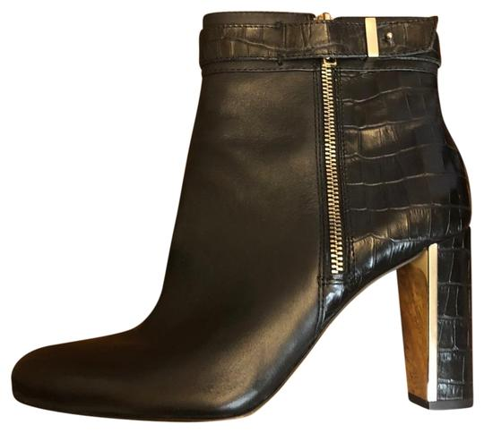 Preload https://img-static.tradesy.com/item/26102456/ann-taylor-black-with-gold-accents-and-reptile-print-bootsbooties-size-us-95-regular-m-b-0-3-540-540.jpg