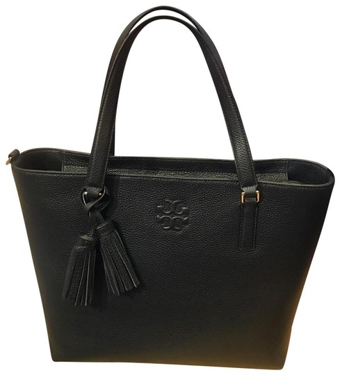 Preload https://img-static.tradesy.com/item/26102475/tory-burch-thea-zip-black-leather-tote-0-0-540-540.jpg