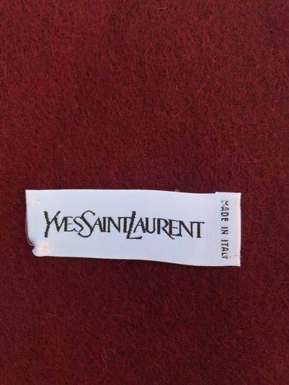Saint Laurent Wine Ysl Yves Red Color Wool Women's Winter Image 3