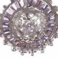 sterling silver Sterling Silver and Amethyst Cubic Zirconia Earrings Image 2