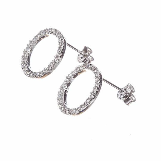 sterling silver Sterling Silver Circle Eternity Cubic Zirconia Earrings Image 1
