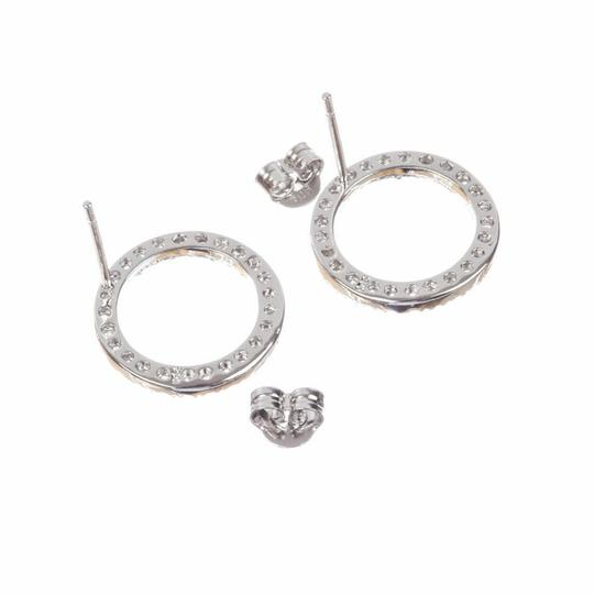 sterling silver Sterling Silver Circle Eternity Cubic Zirconia Earrings Image 2