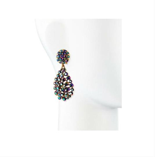 Oscar de la Renta Oscar de la Renta Signed Bold Pear-Cut Cluster Teardrop Earrings Image 3
