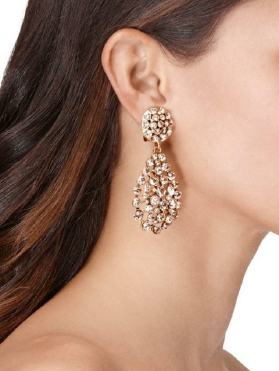 Oscar de la Renta Oscar de la Renta Signed Bold Pear-Cut Cluster Teardrop Earrings Image 4