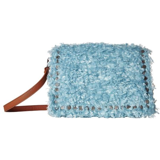 Steve Madden Faux Fur Flap Shoulder Studded Cross Body Bag Image 0