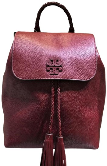 Preload https://img-static.tradesy.com/item/26102556/tory-burch-taylor-imperial-garnet-leather-backpack-0-2-540-540.jpg