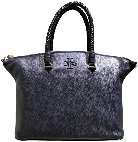Preload https://img-static.tradesy.com/item/26102582/tory-burch-taylor-royal-navy-leather-satchel-0-1-540-540.jpg