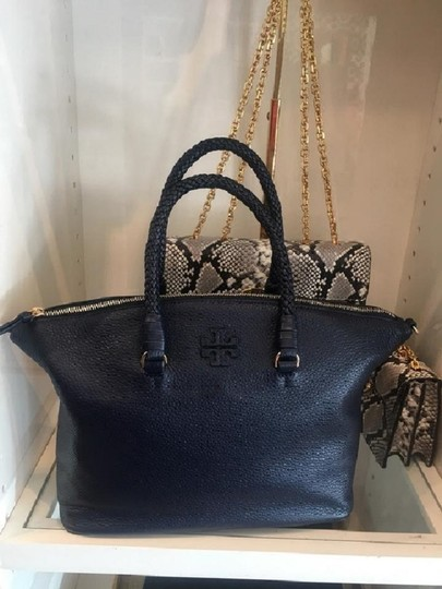 Tory Burch Satchel in Royal Navy Image 2