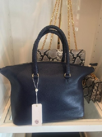 Tory Burch Satchel in Royal Navy Image 3