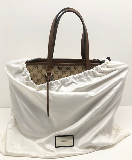 Gucci Gg Large Gg Supreme Tote in Beige/ Brown Image 9