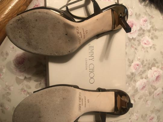 Jimmy Choo Mirror Leather Bronze Sandals Image 1