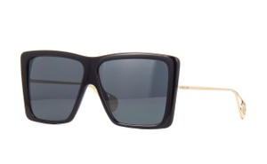 Gucci GG0434s Oversized Acetate Square with Gold Temples