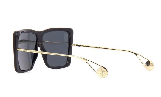 Gucci GG0434s Oversized Acetate Square with Gold Temples Image 2