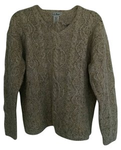 L.L.Bean Cable Bulky Warm Natural Earthy Wool Sweater