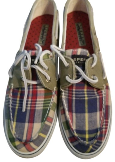 Preload https://img-static.tradesy.com/item/26102655/sperry-plaid-boat-flats-size-us-9-regular-m-b-0-1-540-540.jpg