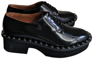 Robert Clergerie Studded Leather Oxford Black Platforms