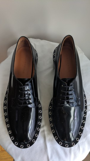 Robert Clergerie Studded Leather Oxford Black Platforms Image 2