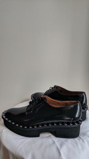 Robert Clergerie Studded Leather Oxford Black Platforms Image 4