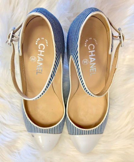 Chanel blue and white Pumps Image 2