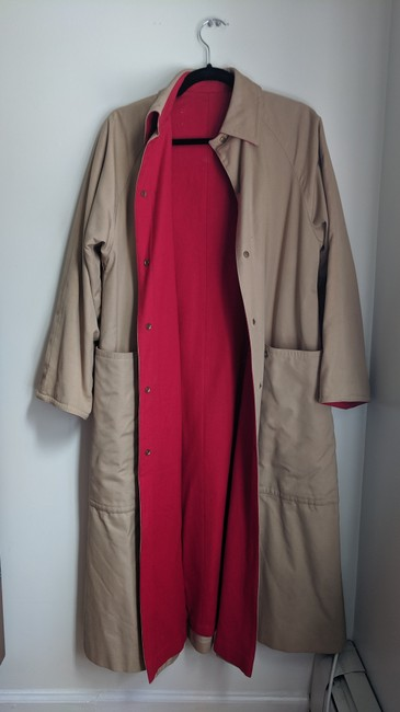 Unique Vintage Swing Trench Coat Image 1