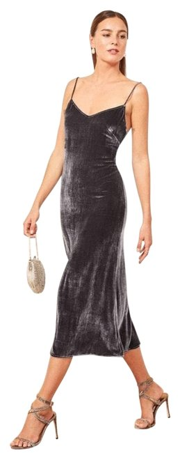Item - Dark Grey Long Formal Dress Size 8 (M)