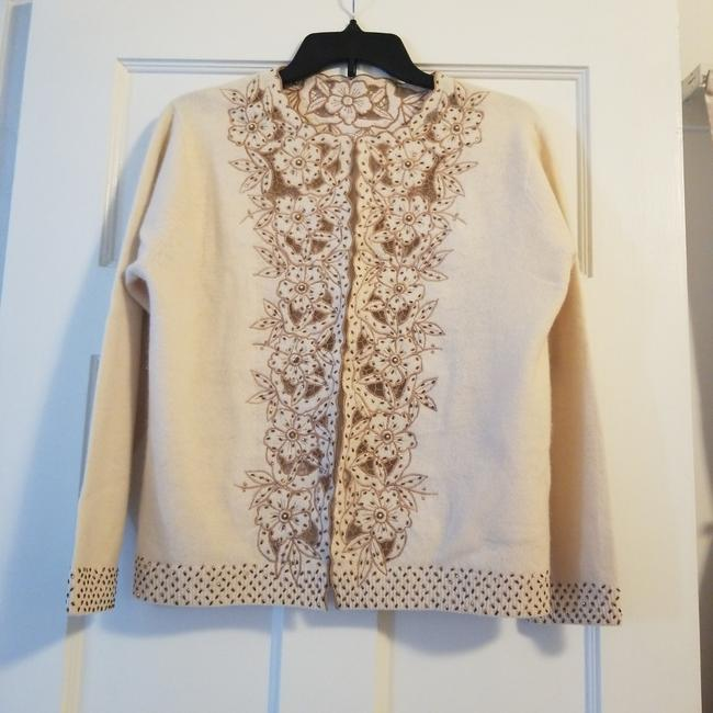 Cream Hong Kong Sweater Cardigan Size Petite 4 (S) Cream Hong Kong Sweater Cardigan Size Petite 4 (S) Image 1