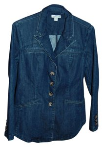 Coldwater Creek Riding Jacket Denim Blazer