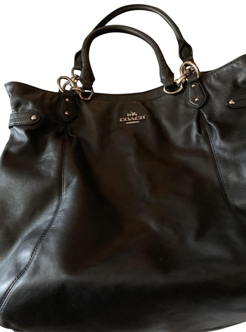 Item - Tote Black with Silver Hardware Leather Hobo Bag