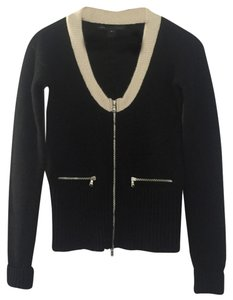Marc by Marc Jacobs Cashmere Cardigan Zip Up Silver Hardware Sweater
