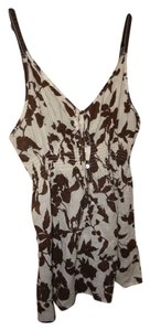 Abercrombie & Fitch Top off white and brown
