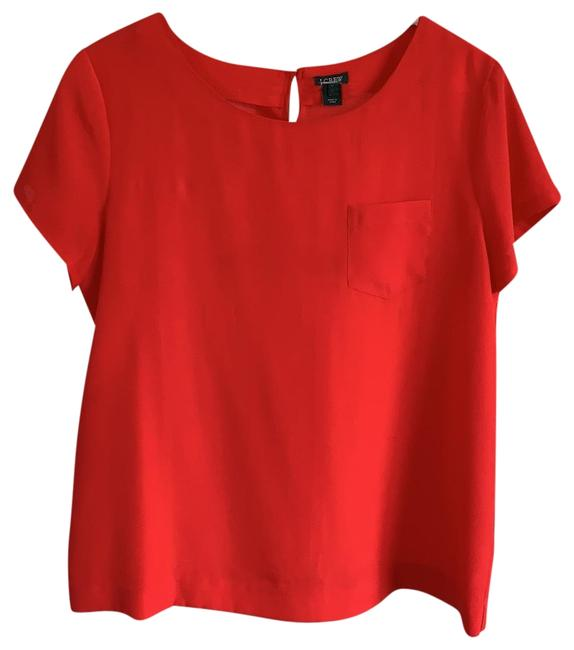 Item - Red Short Sleeved Blouse Size 8 (M)