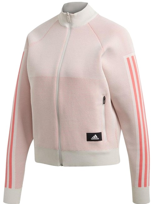 Item - Pink/Cream Knit Track Activewear Outerwear Size 12 (L)