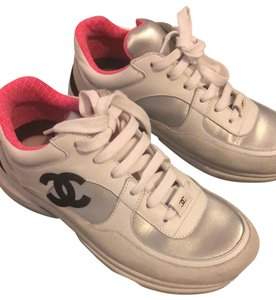 Chanel white silver fluo pink Athletic