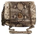 Isaac Mizrahi Animal Print Snakeskin Chain Burberry Coach Shoulder Bag