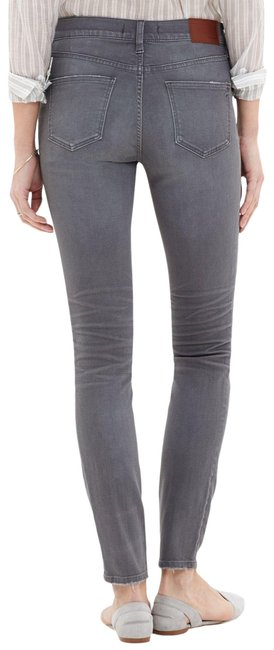 """Item - Grey Light Wash 9"""" High Rise In Dusty Skinny Jeans Size 6 (S, 28)"""